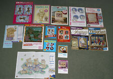 Job Lot of Cross Stitch Pattern Charts - Free Gifts from Magazines Not the Kits