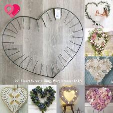 "29"" Heart Wreath Ring Giant Floral Dreamcatcher Macrame Backdrop Wire Frame Bulk"