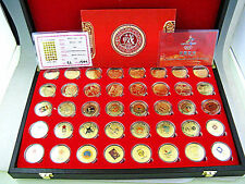 40 Winter Olympic Games 24K Gold Colour Coin&Complete Set