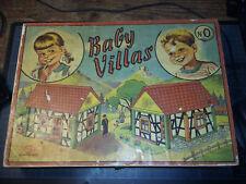 Boite ancienne jeu de construction en bois - BABY VILLAS n°0 - GMFR - incomplet