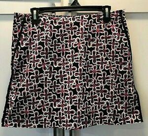 Golftini Women's Black, White, Hot Pink Skort Size 12 EUC