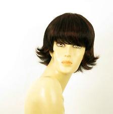 perruque femme 100% cheveux naturel courte méchée noir/rouge MELINDA 1b410