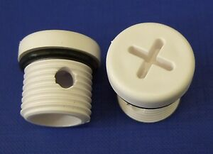 Carver water heater drain plug. Pre1987 Cross Slot