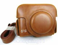 Leather Camera Case Bag Cover For Canon Powershot G16 G15 G 15 CAMERA