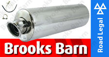 EXC901EM GSF650 Bandit 07> Alloy Oval Slip-On Viper Exhaust Can E-Mark