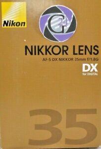 Nikon AF-S DX Nikkor 35mm f/1.8G - 12 Monate Gewährleistung