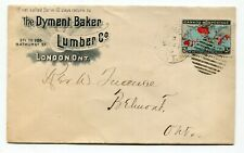 Canada ONT Ontario - London 1899 MAP STAMP - Dyment Baker Lumber Advertising