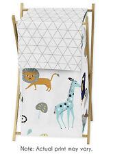 Sweet Jojo Baby Kids Clothes Laundry Hamper for Blue Grey Mod Jungle Bedding Set