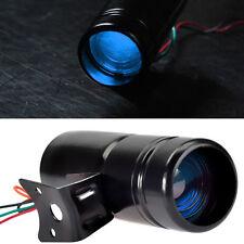Black Adjustable Tachometer RPM Tacho Gauge Shift Light Lamp Blue LED