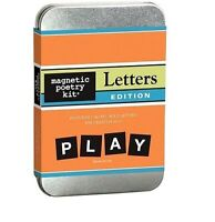 Magnetic Poetry Kit - LETTERS -Includes 140 letters -Kitchen Fridge Game Magnets