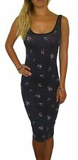 Womens Ladies Long Jersey Midi Summer Beach Dress Floral Size 8 10 12 14 16 18