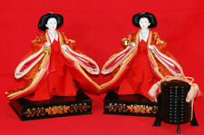 Dolls of the 2 court ladies (Japanese noble clothes of 8-12 centuries) #1675