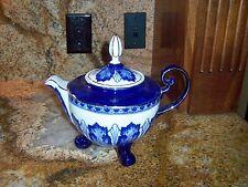 Bombay Co. Teapot  Cobalt Blue with Platinum Trim