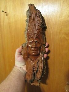 Wood Spirit Carving Wood Spirit Native American Indian Spirit