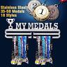 Durable Metal Steel Medal Holder Medal Hanger Display Rack Running Swimming UK