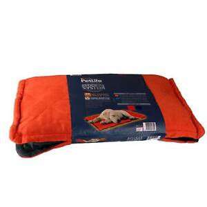 Dog Bed Cat Self Warming Pad Red/Charcoal Medium/Large Petlife Odour Resistant