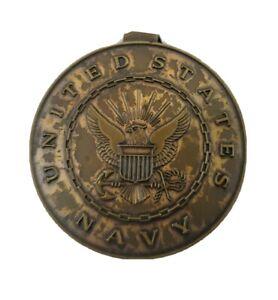 "Vintage Circa WWII Anson United States Navy USN 1-5/8"" Dia. Money Clip - Rare"