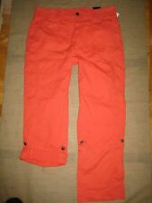 LANE BRYANT Cargo Pants With Buttoned Rolled Leg Sz 16 NWT $88 Orange