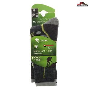 Lorpen Men's T3 Midweight Hiker Socks Charcoal Medium ~ New