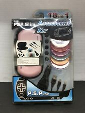 18 IN 1 ACCESSORIES KIT BUNDLE FOR SONY PSP SLIM .2000 New Open Box