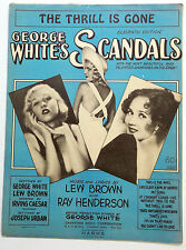 Broadway Musical Sheet Music The Thrill Is Gone Scandals George White Lew Brown