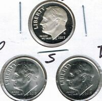 2013 Three Uncirculated Dime Types The San Francisco is From a Proof Set!
