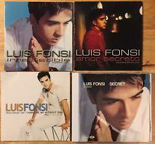 Luis Fonsi promo singles lot - RARE MINT!!