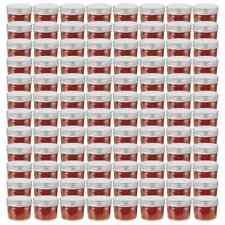 vidaXL 96x Jampot met Zilverkleurige Deksel Glas Jampotten Glazen Opbergpot