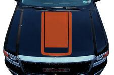 Vinyl Graphics Decal Wrap Kit for 2014-2017 GMC Sierra RACING STRIPES V2 Orange