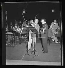 1943 Jack Benny Jascha Heifetz Vintage John Florea Old Photo Negative 530B