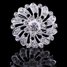 Buy 2 get 1 free silver rhinestone crystal bridal bouquet brooch pin wedding H