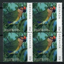 Grenada 2019 MNH Parrots Definitives Gold-Capped Conure 4v Block Birds Stamps