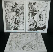 japan k) Gege Akutami: Jujutsu Kaisen Fukusei Genga (Poster) & Name Paper