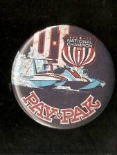 """National Champion US 1 Pay 'N Pak -  3"""" Unlimited Hydroplane Button"""