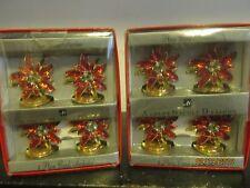 Enamel Red Flower W Stones Place Card Holders Set of 8 Ashley Nicole Designs