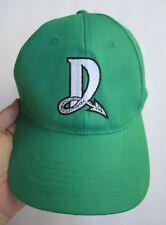 DAYTON DRAGONS HAT CAP GREEN W/GRAY LETTER D LOGO, CINCINNATI REDS, OSFM, EXC.!