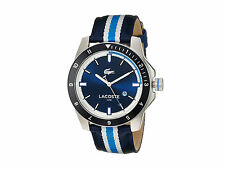 2010809 Lacoste Durban Sports Blue Band Blue Dial Date Watch New in Box