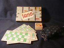 Old Vtg Game Of Lotto J.W.S.&S Bavaria Wood With Box