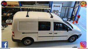 Volkswagen Caddy Van Aero Dynamic Matte Black Roof Racks Set of 2