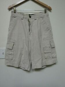 Wear First Mens Cargo Shorts Summer Clothes Cotton Casual Bottom 29x11 White