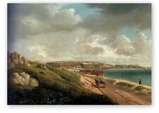 FORT ST PHILLIP MINORCA FROM A SCHRANZ PAINTING 1800s  VINTAGE MOUNTED PRINT