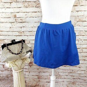 Reebok Size Small Blue Tennis Golf Athletic Sport Skort Skirt w/ Red Shorts EUC