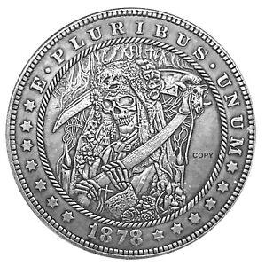 Santa Muerte V3 Novelty Heads Tails Lucky Challenge Coin US SELLER FAST SHIPPING