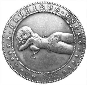 Beach Betty Novelty Heads Tail Good Luck Token Challenge Coin