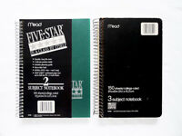 LOT 2 MEAD Five Star Poly Cover Pocket 2/3 Subject 100/150 sheets 9.5x6 College