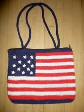 CUTE! United States USA FLAG Shoulder Hand PURSE Bag Red White Blue Cool America