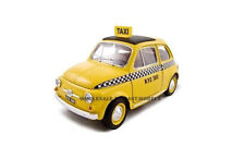 FIAT 500 TAXI CAB YELLOW 1:18 DIECAST MODEL CAR BY BBURAGO 12066