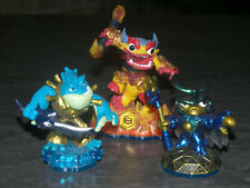 SKYLANDERS SWAP FORCE LOT 3 FIGURINES ACTIVISION OCCASION