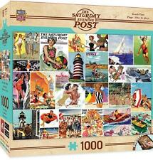 1000 SATURDAY EVENING POST JIGSAW PUZZLE BEACHTIME COLLAGE NORMAN ROCKWELL 71623