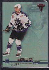 JASON ALLISON 2001/02 TITANIUM HOBBY #63 RED PARALLEL KINGS SP #61/94